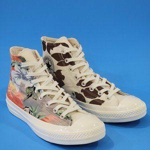 Converse Chuck 70 Hi 'Tropical Shirt' Sneakers NWT